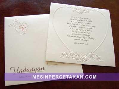 Kartu Undangan Pernikahan | Tips Memilih