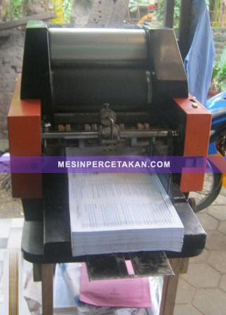 Mesin Cetak Mini Offset MB-2000 | Tampak Belakang