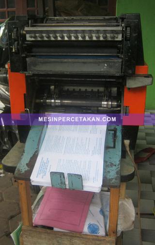 Mesin Cetak Mini Offset MB-2000 | Tampak Depan