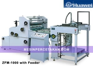 ZFM-1000 AUTOMATIC WATER SOLUBLE LAMINATING MACHINE with Feeder