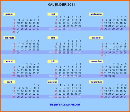 Kalender 2011 | Download Desain Template